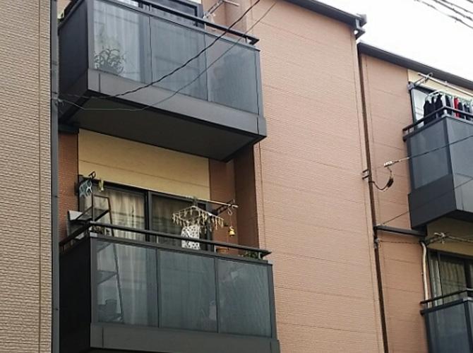 東京都荒川区の外壁塗装・屋根塗装工事の施工前