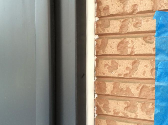 シーリングを打ち替えることで雨漏り防止にもなります。