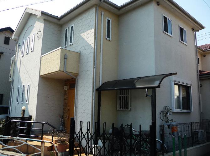埼玉県草加市の外壁塗装・屋根塗装工事の施工前
