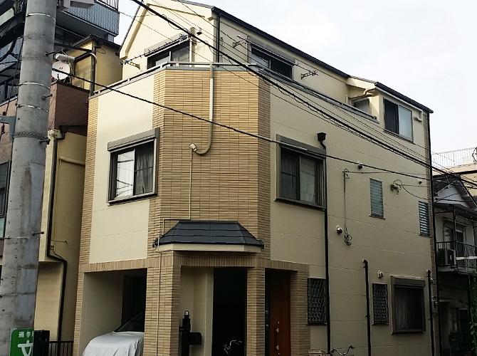 東京都足立区中央本町の外壁塗装・屋根塗装工事の施工後