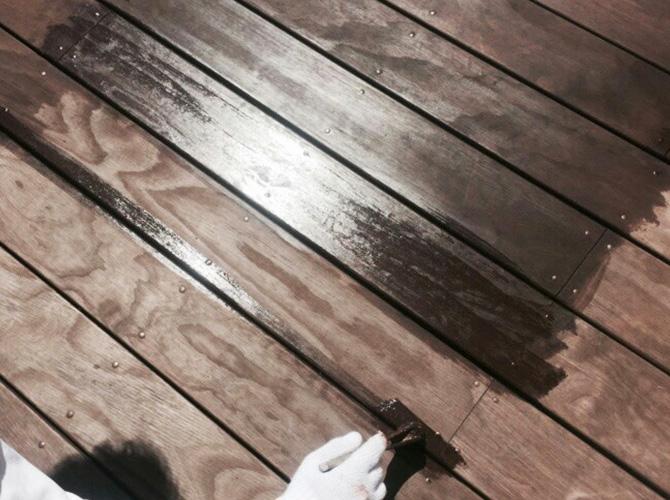 木部には木部用の塗料を使います。