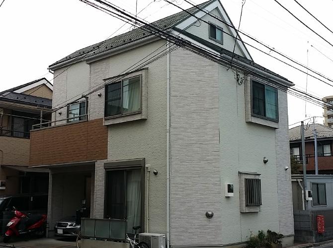 東京都江戸川区のシール工事・屋根塗装工事の施工前