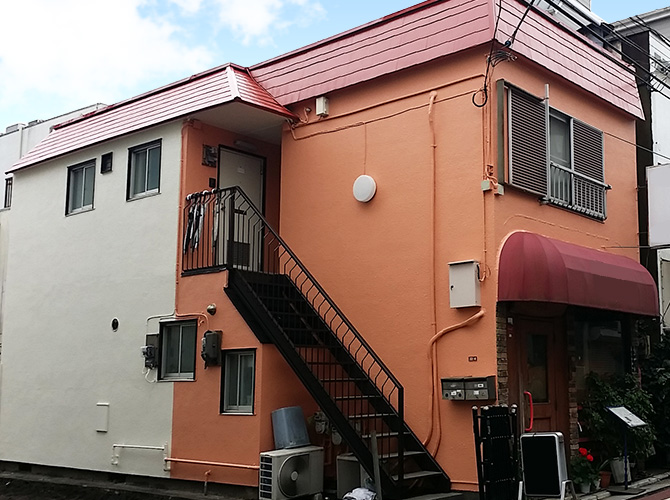 東京都杉並区アパートの外壁塗装・屋根塗装工事の施工後