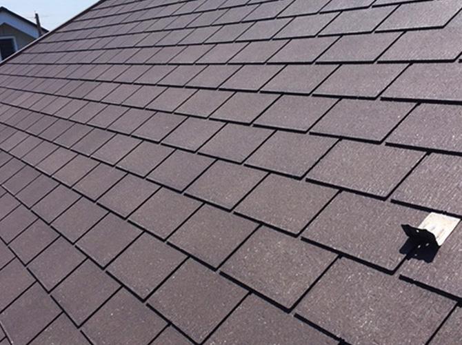 屋根の高圧洗浄施工後のようすです。