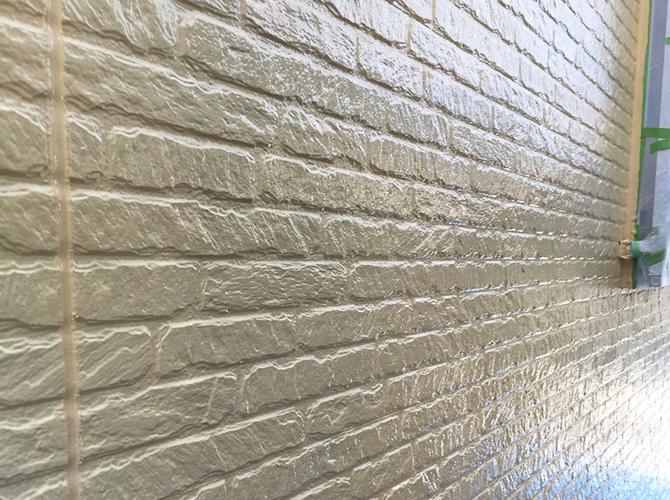 外壁塗装の施工完了後のようすです。