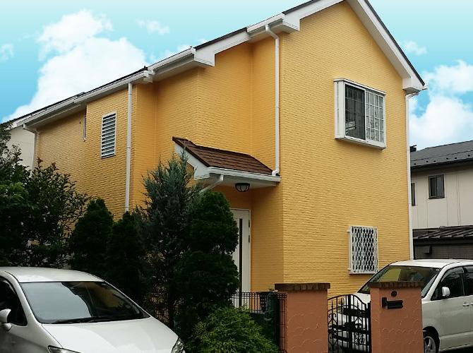 東京都日野市の外壁塗装・屋根塗装工事の施工後