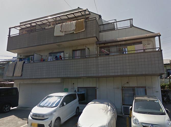 東京都足立区アパートの外壁塗装・屋根塗装工事の施工前