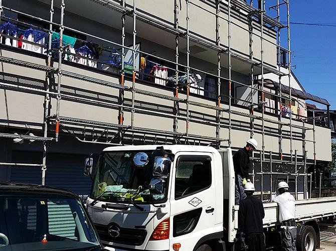 東京都足立区アパートの外壁塗装・屋根塗装工事の施工後