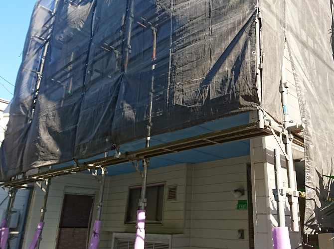 東京都足立区小台の外壁塗装・屋根修理工事の施工前