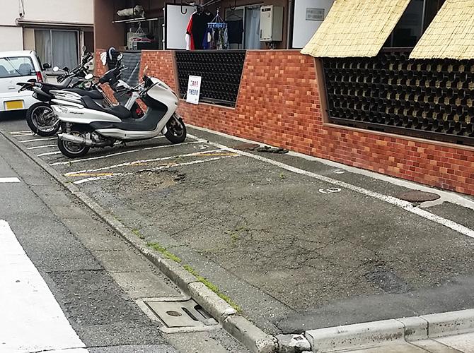 東京都大田区マンション駐車場の土間打ち工事の施工前
