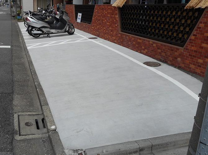 東京都大田区マンション駐車場の土間打ち工事の施工後