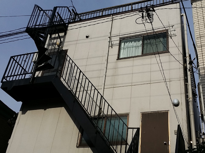東京都足立区柳原の外壁塗装工事の施工前