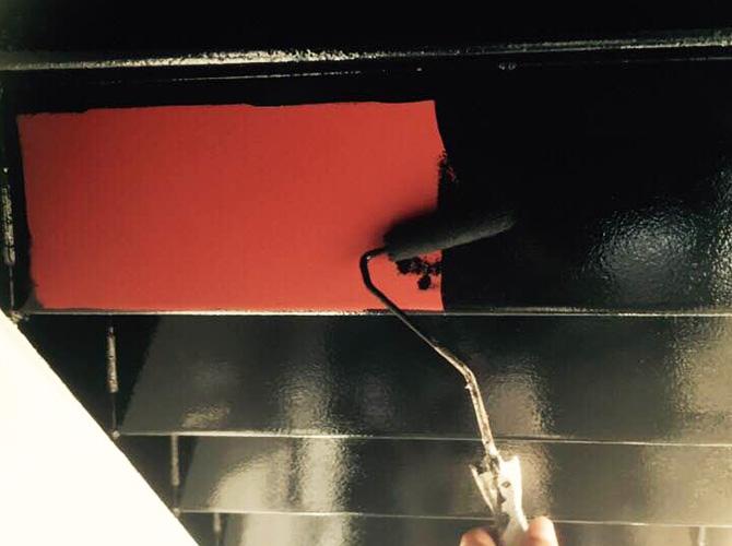 鉄骨階段のサビ止め塗装はおまかせ下さい。