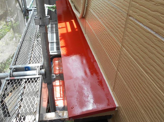 サビ止め塗料の塗装完了後のようすです。