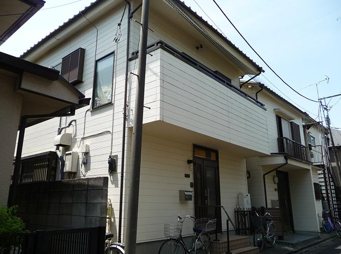 東京都足立区古千谷本町の外壁塗装工事の施工前