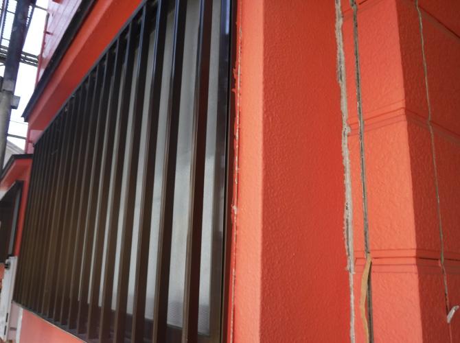 外壁目地部分の施工前の状態です。