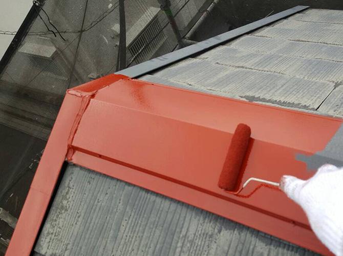 屋根板金のサビ止め