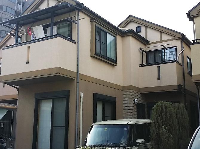 東京都足立区東伊興の外壁塗装・屋根塗装工事の施工前