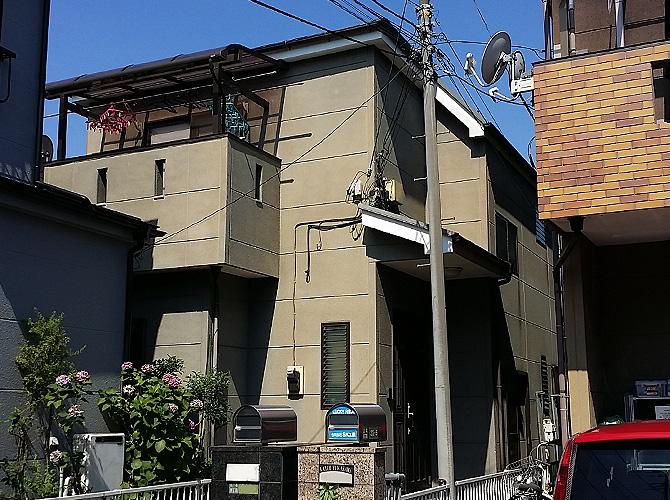 東京都足立区江北の外壁塗装・屋根塗装工事の施工前