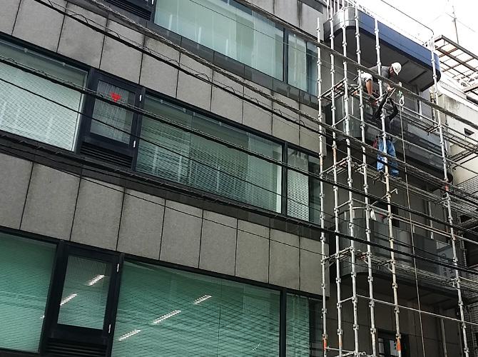 東京都千代田区ビルの外壁塗装・シール工事の施工前