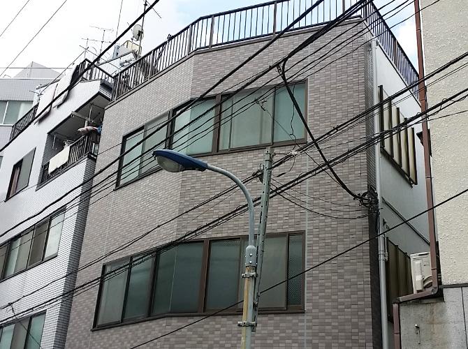 東京都北区ビルの外壁塗装・シール打ち替え工事の施工後