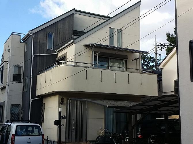 東京都足立区伊興の外壁塗装・屋根塗装工事の施工前