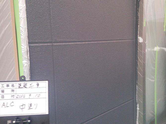 ALC部の中塗り・上塗りはパーフェクトトップです。