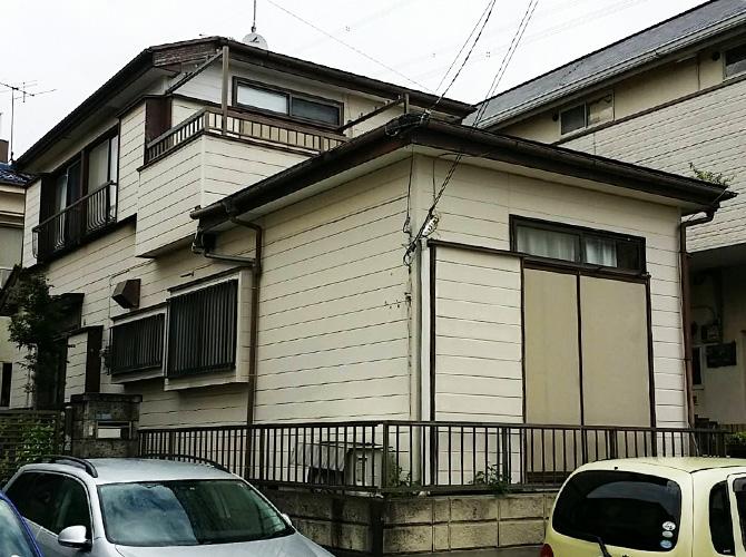 千葉県浦安市の外壁塗装・屋根葺き替え工事の施工前