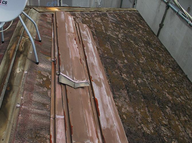 千葉県浦安市のガルバリウム屋根カバー工法の施工前