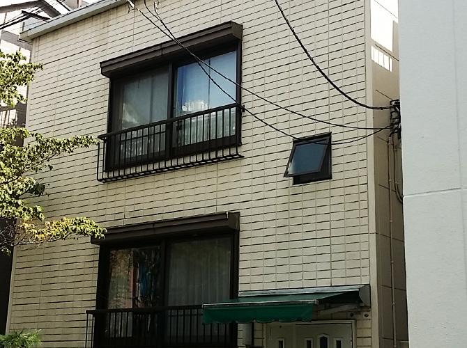 東京都文京区の外壁塗装・防水工事の施工前