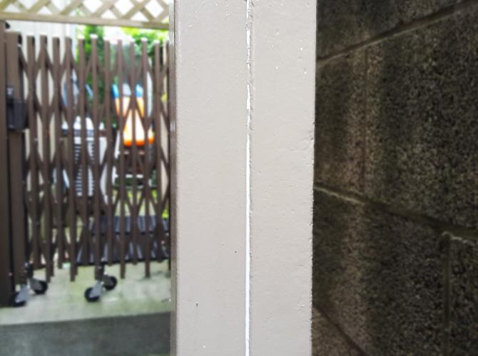 鉄柱のサビ止め塗装・補修工事の施工後