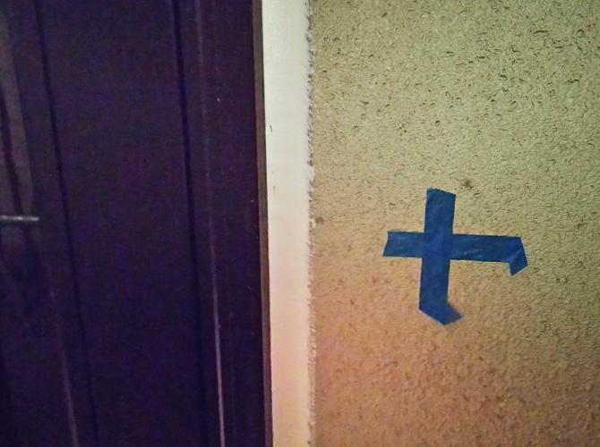ドア廻りのシール工事の完了後です。
