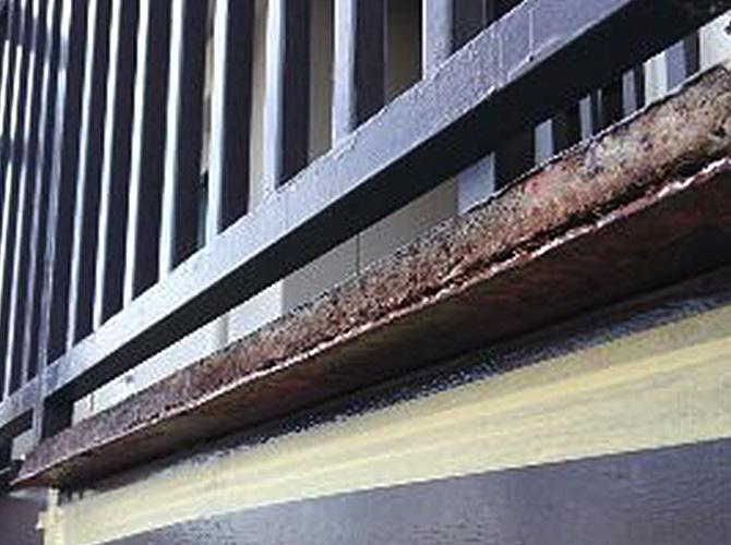 埼玉県越谷市の住宅鉄部補修工事の施工前