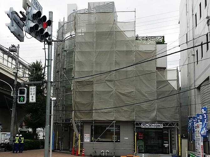 東京都板橋区オフィスビルの外壁タイル補修工事の施工後