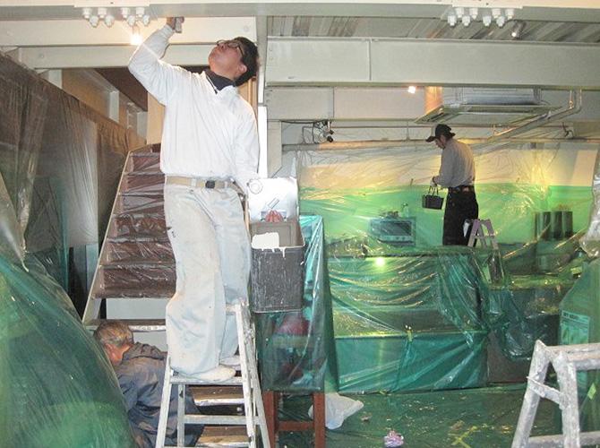 表参道のカフェの内装工事