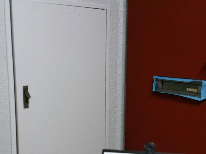 横浜市マンションのPS扉サビ止め塗装工事の施工後