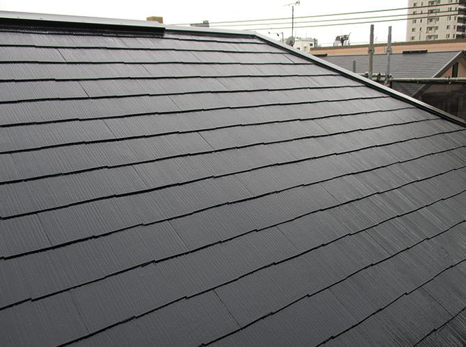 東京都荒川区の屋根塗装・外壁塗装工事の施工後