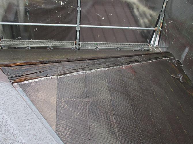 屋根洗浄完了後