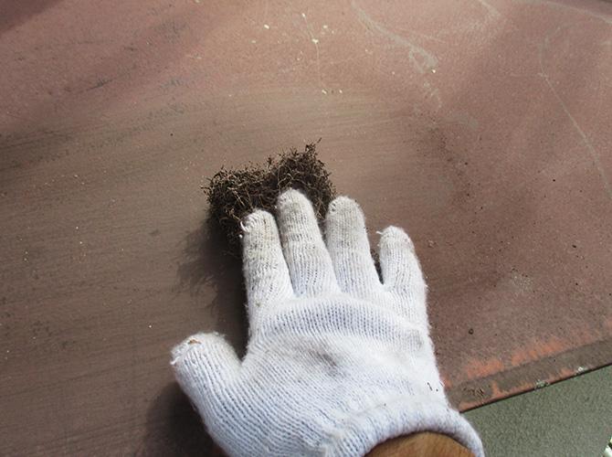 鉄部のケレン清掃