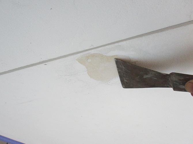 足立区戸建住宅の軒天井塗装・シール工事の施工前