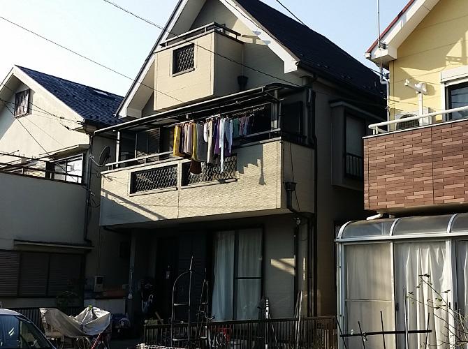 東京都東久留米市の外壁塗装・屋根塗装工事の施工前