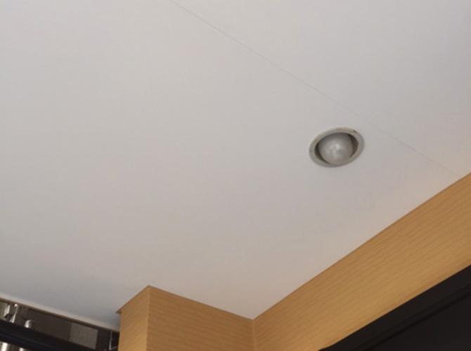 軒天井の塗装完了後
