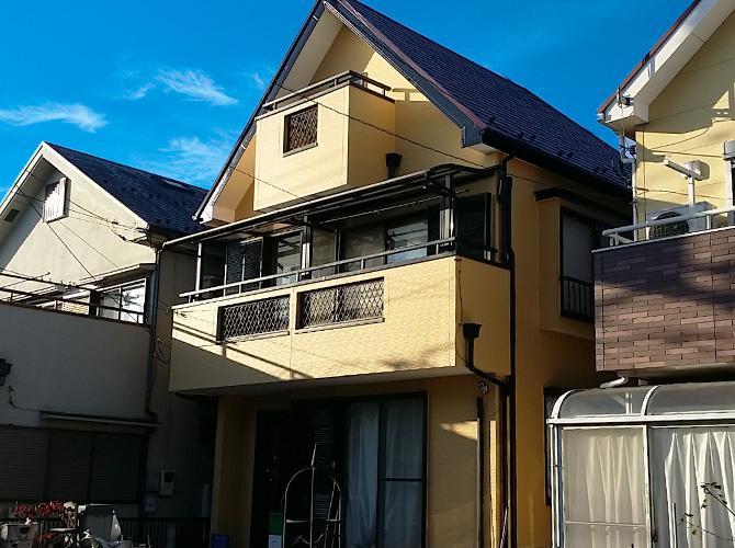 東京都東久留米市の外壁塗装・屋根塗装工事の施工後