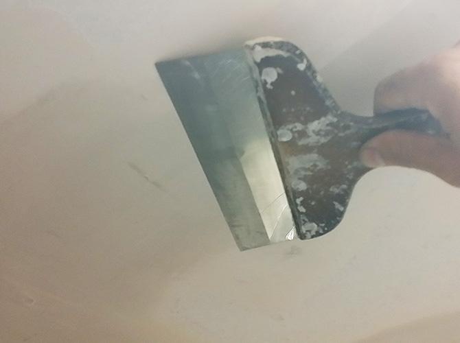 天井のケレン清掃