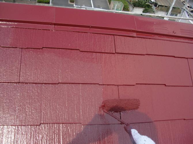 屋根塗装の塗料はサーモアイSiです。