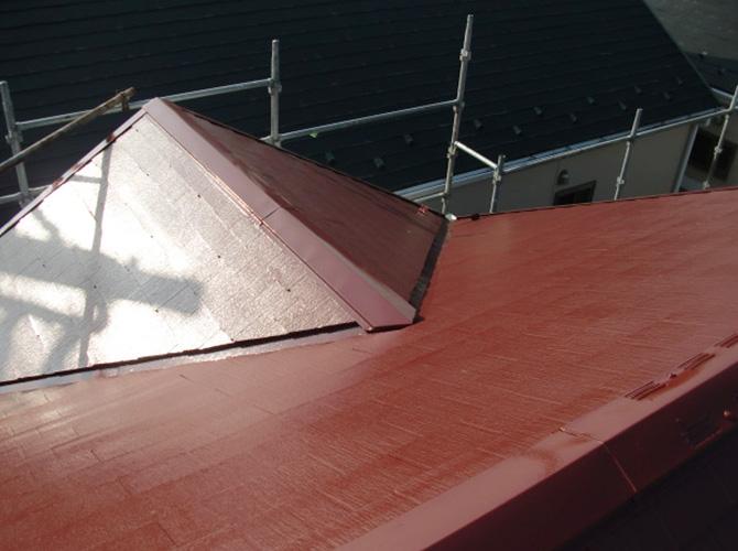 屋根塗装の施工後のようすです。