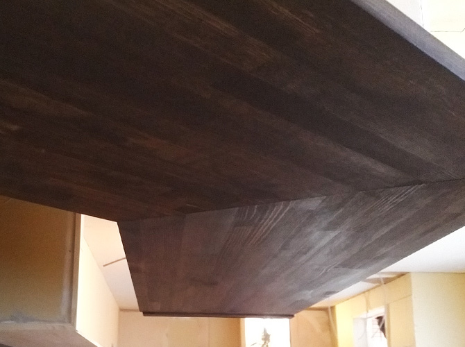 木部塗装完了後