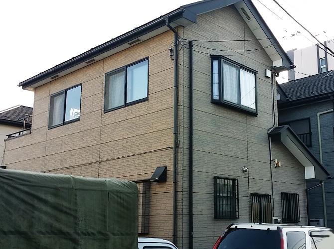 埼玉県川口市の外壁塗装・屋根塗装工事の施工前