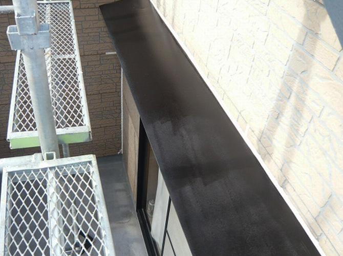 霧除けのサビ止め塗装後