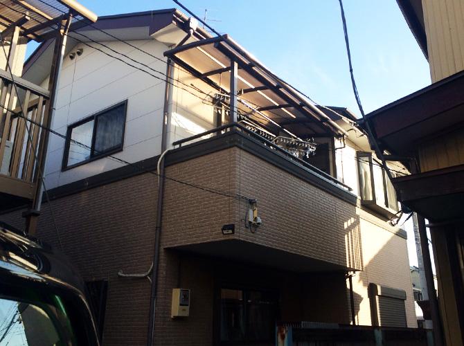 東京都足立区北加平の外壁塗装・屋根塗装工事の施工前